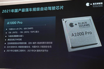 2021上海车展:黑芝麻智能发布196TOPS自动驾驶芯片 车路协同产品亮相