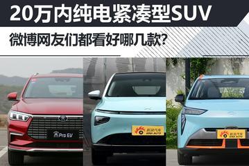 20万内纯电紧凑型SUV  微博网友们都看好哪几款?