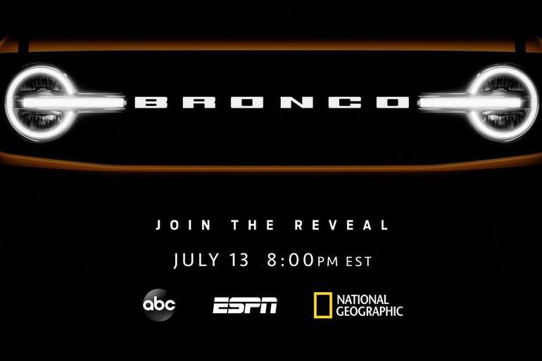 福特Bronco将成为Built Wild品牌 7月14日发布3款新车