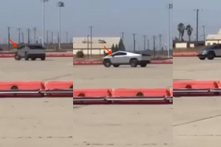 特斯拉被曝测试升级版Cybertruck原型车 装配传统后视镜