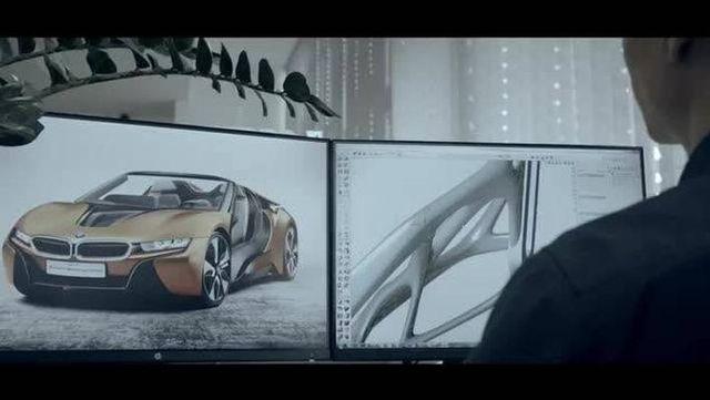 视频:2018版宝马i8-roadster 的3D打印设计