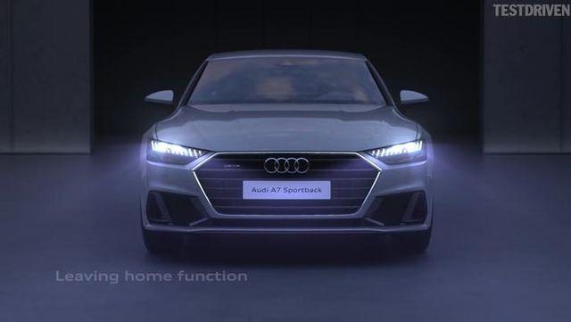 视频:全新一代奥迪A7灯光系统展示