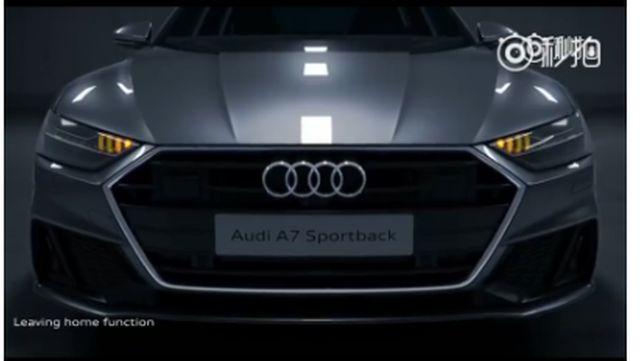 视频:奥迪A7车灯黑科技,超级酷炫!