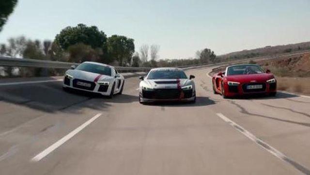 视频:三款不同风格的奥迪R8集结!你更喜欢谁?