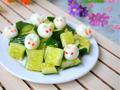 童趣盎然的小菜——小白兔拌黄瓜(图)