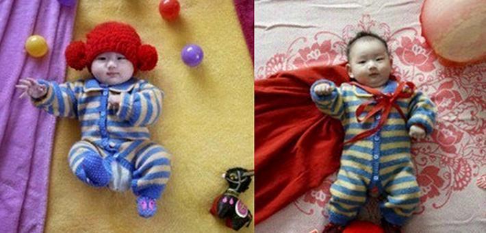 有才的妈妈拍摄创意宝宝照