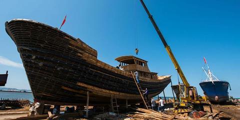 探访盖州手工建造木渔船