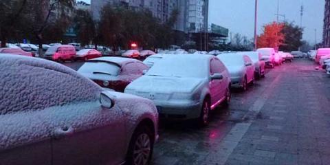 实拍吉林长春今冬初雪