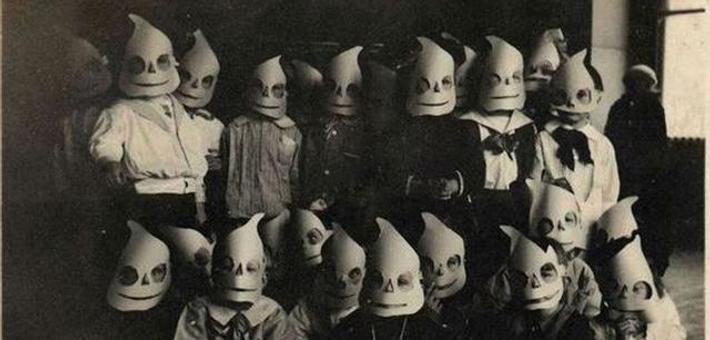 老照片:百年前怎样过万圣节