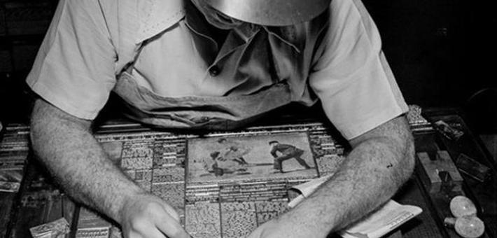 1942年,铅字印刷时代(组图)