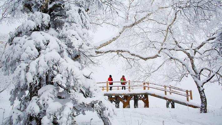 东北高山大雪原梦幻美景