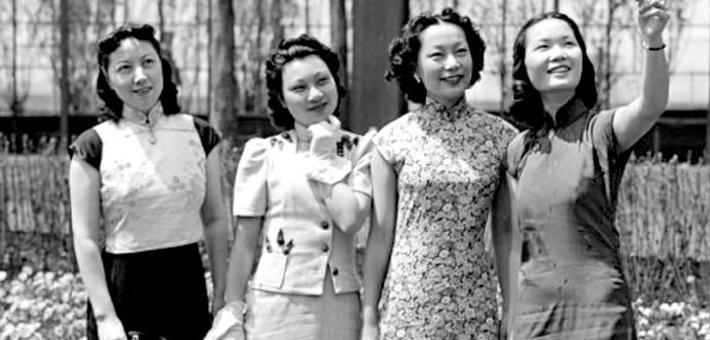 老照片:民国时期的女性都穿什么?