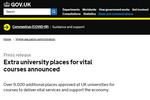 秋季开学在即英国大学宣布新增9500个录取名额