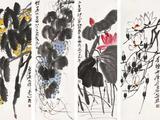 齐白石(1864-1957)  香卉佳果四屏