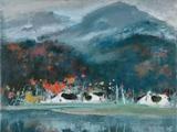 苏天赐(1922-2006)  秋诗初雨