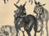 黄胄(1925-1997)  五驴