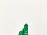 周春芽(b 1955)  绿狗 2002