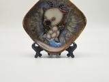淄博陶瓷雕艺术(鲁花釉生肖盘)
