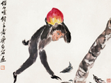 13#齐白石(1864一 1957) 吉猴献寿