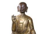 清 铜鎏金錘揲上师像 高:48cm