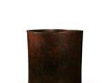 清早期 紫檀起线三足笔筒 高:17cm