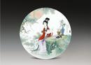 圆形瓷板《十二金钗-探春》
