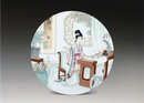 圆形瓷板《十二金钗-惜春》