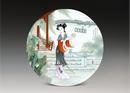 圆形瓷板《十二金钗-巧姐》