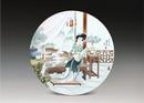 圆形瓷板《十二金钗-迎春》