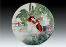 圆形瓷板《十二金钗-湘云》
