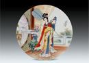 圆形瓷板《十二金钗-元春》