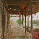 琉璃彩《东埠古街码头》60x60cm2018年