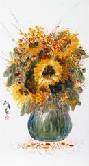 高温琉璃彩《向日葵》
