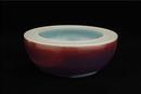 双壁钵(红蓝釉)