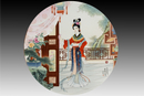 圆形瓷板《十二金钗-熙凤》