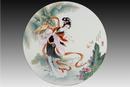圆形瓷板《十二金钗-宝钗》