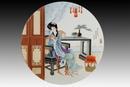 圆形瓷板《十二金钗-可卿》
