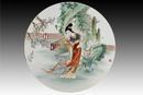 圆形瓷板《十二金钗-黛玉》