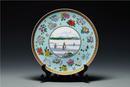 《繁华盛世》(G20杭州峰会国宴瓷)赏盘 直径:35cm(收藏于中国国家博物馆)