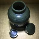 瓦当纹茶叶罐1 和田玉籽料青玉 86x86x135mm 456克 25万