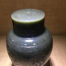 瓦当纹茶叶罐2 和田玉籽料青玉 86x86x135mm 456克 25万