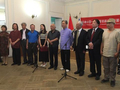 著名画家罗建泉赴俄罗斯国画作品展圆满成功