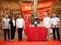 景泰蓝《和平欢歌》入藏南昌八一起义纪念馆