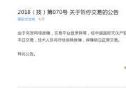 香港中国国际文交所关于暂停交易的公告