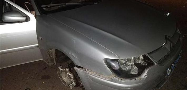 车轮都跑掉一个 重庆女司机竟毫无察觉