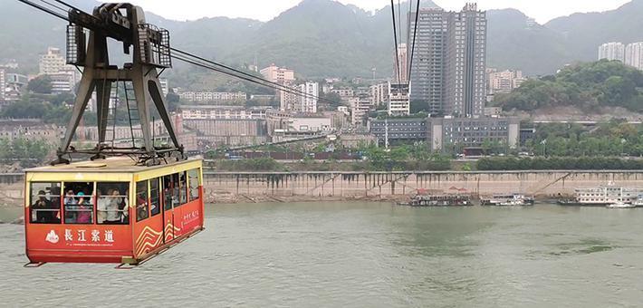 好美!长江索道成山水之城的开机画面