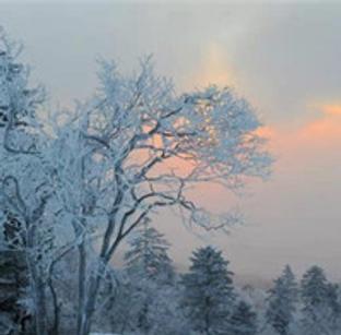 不怕寒冷 登老秃顶山观日出