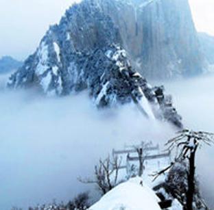 奇险华山上的绝美雪景