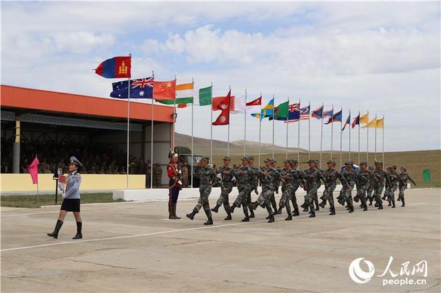 中美印日士兵同时现身蒙古国