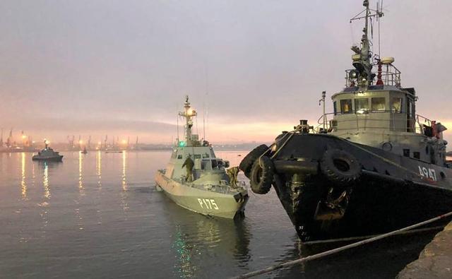 乌克兰被俄扣押三艘军舰已到港